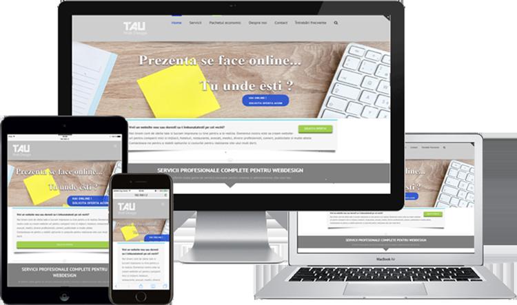 Webdesign Oradea Responsive. Website adaptabil pe toate tipurile de dispozitive mobile