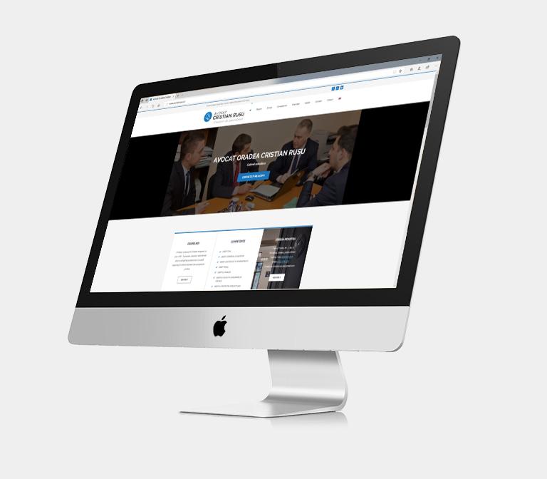 Site prezentare Oradea Avocat Rusu Cristian