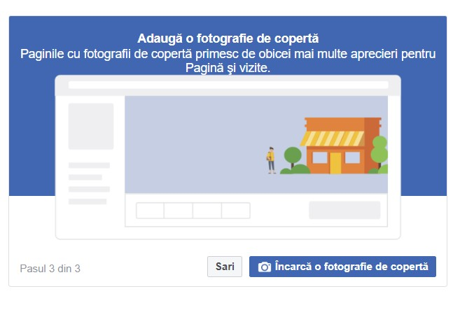 Pagina profesionala Facebook incarca fotografie profil