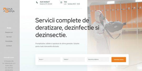 Site prezentare servicii deratizare